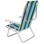 2 Cadeira Reclinável Praia Alumínio Cores 4 Posições Mor