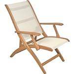Cadeira Relax Marrom Claro Madeira Jatobá - Tramontina