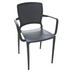 Cadeira Safira com Braços Preta Tramontina 92049009