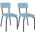 Cadeira Sixtie Pintada 2 Unidades PC20 - Pozza | Elare