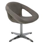 Cadeira Tramontina Delice Estofada Cinza em Polietileno com Base X 92705211