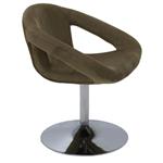 Cadeira Tramontina Delice Estofada Moca em Polietileno com Base Central 92706213