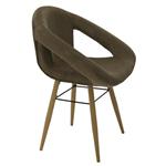 Cadeira Tramontina Delice Estofada Moca em Polietileno com Base em Madeira 92707213