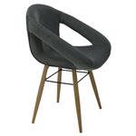 Cadeira Tramontina Delice Estofada Níquel em Polietileno com Base em Madeira 92707212