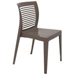 Cadeira Tramontina Victória Camurça com Encosto Vazado Horizontal em Polipropileno 92041210
