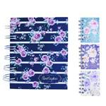 Caderneta Bloco de Notas com 80 Folhas Flores Colors 8 5x6 7cm
