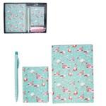 Caderneta Bloco de Notas Indice Telefonico com 50 Folhas Flamingo Caneta