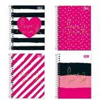 Caderneta Espiral 1/8 Tilibra Love Pink 80 Folhas