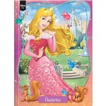 Caderno 1/4 Brochura Capa Dura Pequeno Princesas Aurora-96 Fls -Tilibra