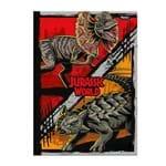 Caderno 1/4 Brochura Jurassic World - Vermelho/laranja - 96 Folhas - Foroni