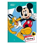 Caderno 1/4 Brochura Mickey - Mickey e Pluto - 96 Folhas - Tilibra