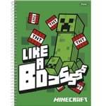 Caderno 1/4 C/d 96 Folhas Minecraft Foroni