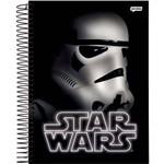 Caderno 10 Matérias Capa Dura Star Wars 200 Folhas com 4 Unidades Jandaia