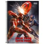 Caderno 16x1 Universal Avengers Civil War 320 Folhas 142131 -Tilibra