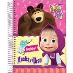 Caderno 1x1 Capa Dura 2019 Masha e o Urso 96fls.