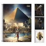 Caderno Assassins Creed Origins Universitario 1x1 96 Folhas