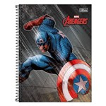 Caderno Avengers - Capitão América - 1 Matéria - Tilibra
