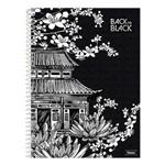 Caderno Back To Black - Casa - 10 Matérias - Foroni