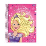 Caderno Barbie Dream Estrelas Foroni C/ 1 Matéria - Capa Dura - 96 Folhas