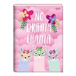 Caderno Brochura 1/4 Capa Dura 96 Folhas Lhama no Drama Lhama Jandaia