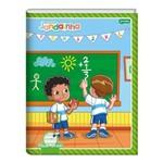 Caderno Brochura Capa Dura 190x248mm Pauta Verde 40 Folhas Meu Primeiro Jandainha Jandaia