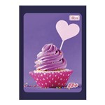 Caderno Brochura Capa Flexível 1/4 96 Folhas D+ Cupcake Tilibra