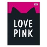 Caderno Brochura Love Pink - Orelhinhas - 96 Folhas - Tilibra