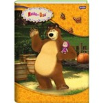Caderno Brochura Univ Cd 96fls Masha e o Urso Jandaia