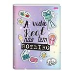 Caderno Brochura Universitario Capa Dura 96 Folhas IT Girl Roteiro Jandaia