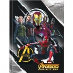 Caderno Brochurão Universitário C D Avengers 80 Fls Pct C/05