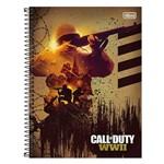 Caderno Call Of Duty - Soldado - 10 Matérias - Tilibra