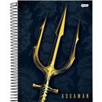 Caderno Capa Dura 1 Matéria Aquaman 96 Folhas Pacote com 04 Jandaia