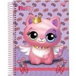 Caderno Capa Dura 1 Matéria Fluffy 96 Folhas Pacote com 04 Jandaia