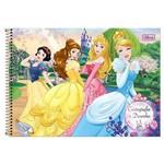 Caderno Cartografia C/D 96 Folhas Princesas Disney Tilibra
