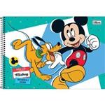 Caderno Cartografia Capa Dura Mickey 96 Folhas Tilibra