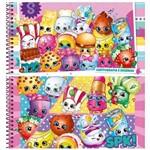 Caderno Cartografia e Desenho Capa Dura 96 Folhas Shopkins Jandaia