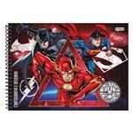 Caderno Cartografia e Desenho Liga da Justiça - Vermelho - Jandaia