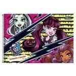 Caderno Cartografia e Desenho Monster High 96 Folhas Tilibra 1014861