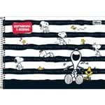 Caderno Cartografia e Desenho Sem Seda Capa Dura Snoopy 96 Folhas Tilibra