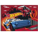 Caderno Cartografia Esp 96f Cd 146218 Sem Seda Hot Wheels Tilibra