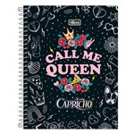 Caderno Colegial Capricho - Call me Queen - 80 Folhas - Tilibra