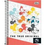 Caderno Colegial Mickey 1x1 - 80 Folhas (17x24cm)- Tilibra - Branco