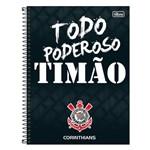 Caderno Corinthians - Todo Poderoso Timão - 80 Folhas - Tilibra