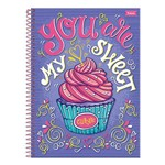 Caderno Cupcake - My Sweet Cupcake - 10 Matérias - Foroni