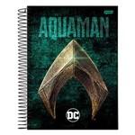 Caderno Dc Comics - Aquaman - 1 Matéria - Jandaia