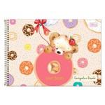 Caderno de Cartografia e Desenho Love Bears - Doces - Tilibra