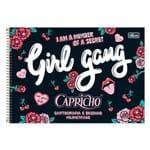 Caderno de Cartografia e Desenho Milimetrado Capricho - Girl Gang - Tilibra