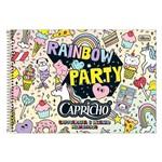 Caderno de Cartografia e Desenho Milimetrado Capricho - Rainbow Party - Tilibra