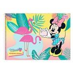 Caderno de Cartografia e Desenho - Minnie e Flamingos - 96 Folhas - Tilibra