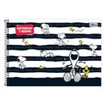 Caderno de Cartografia e Desenho - Snoopy Listras - 96 Folhas - Tilibra